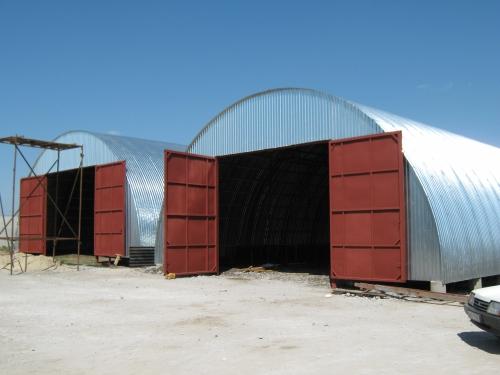 Строительство арочных ангаров под ключ (в стоимость входят: материалы, доставка, монтаж).
