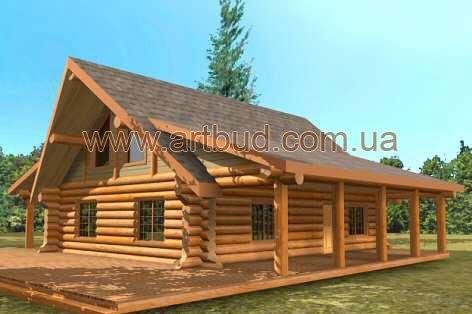 Строительство домов. Бревно, сруб, блок хаус. Гарантия от производителя. www. artbud. com. ua