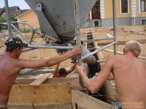 Строительство фундамента коттеджа