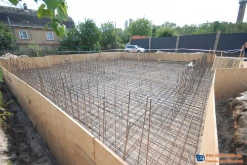 Строительство фундамента загородного дома