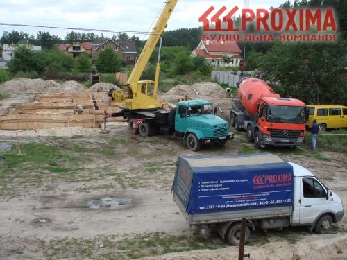 Строительство фундамента загородного дома Киев