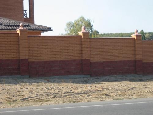 строительство каменных и кирпичных заборов