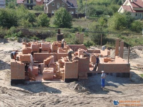 Строительство коробки загородного дома