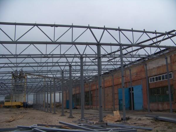 Строительство производственного помещения. (изготовление и монтаж металокаркаса, монтаж сэндвич-панелей, профнастила).