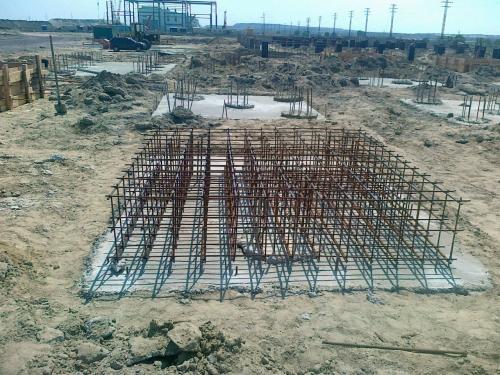 Строительство промышленных зданий и сооружений, фундаментов под оборудование.