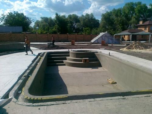 Строительство разнотипных бассейнов под ключ.