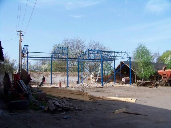 Строительство ремонтно-механическо й мастерской для сельхозтехники.