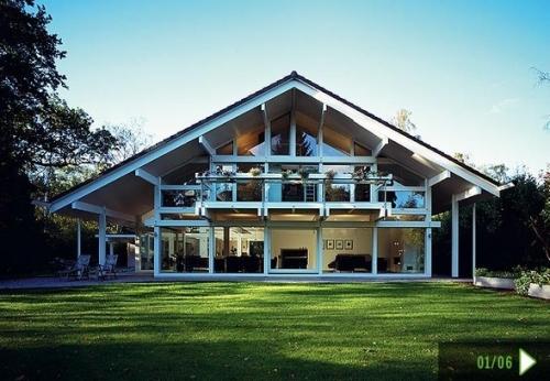 строительство современных деревянных домов, коттеджей, дачных домиков по технологии фахверк.