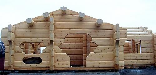 Строительство срубов - домов коттеджей бань саун из профилированного бруса