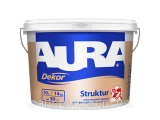Фото  1 Структурна фасадна фарба для фасадів та інтерєрів Struktur Dekor Aura Eskaro (2,5 л) 1843669