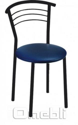 Стул Маркос черный Скаден синий A7992