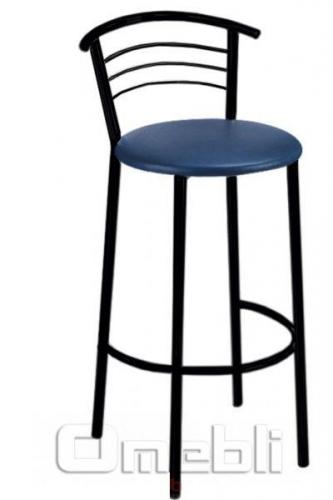 Стул Маркос хокер черный Скаден синий A8118