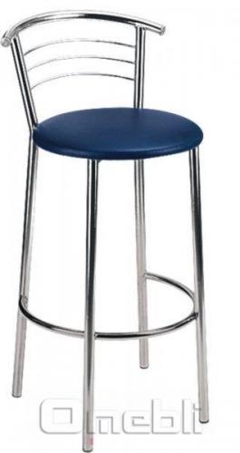 Стул Маркос хокер хром Скаден синий A8055