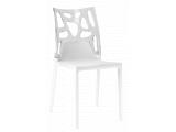 Фото  1 Стул Papatya Ego-Rock белое сиденье, верх прозрачно-чистый 2017552