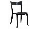 Фото  1 Стул Papatya Hera-S черное сиденье, верх прозрачно-дымчатый 2017556