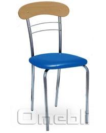 Стул Патрик хром Скаден синий A8942