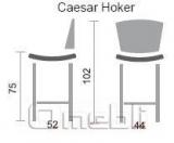 Стул Цезарь хокер хром Скаден красный A8667