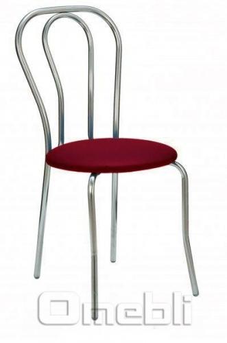 Стул Тюльпан хром Скаден бордовый A8431