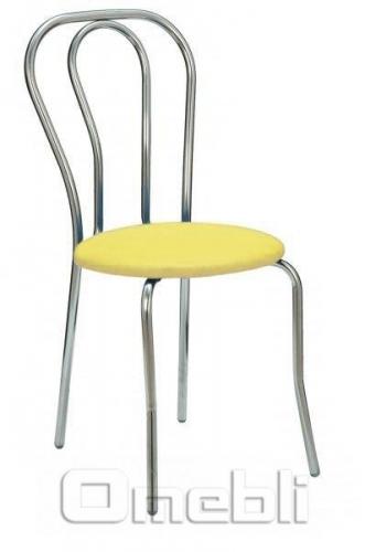 Стул Тюльпан хром Скаден желтый A8434