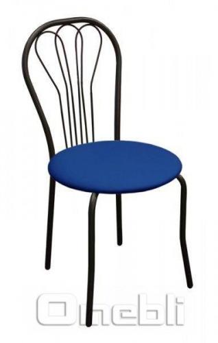 Стул Ванесса черный Скаден синий A8244