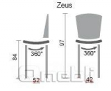Стул Зевс хокер хром Скаден бежевый A8843