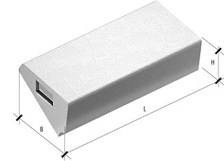 Ступени бетонные ЛС 12-1 775 разм.1200х330х145мм