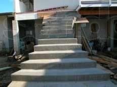 Ступени бетонные, металлические.