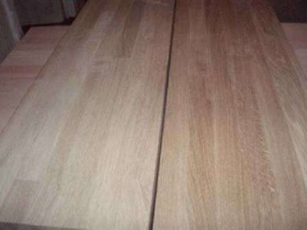 Ступени из массива древесины Ясеня, Дуба, Бука 900х300х40мм.