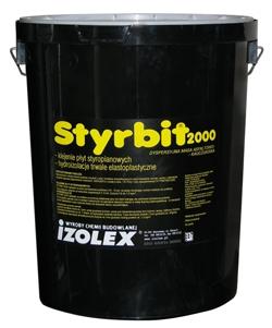 Styrbit 2000 - битумно-каучуковая мастика на водной основе , обмазочная гидроизоляция, клей для пенополистирола.
