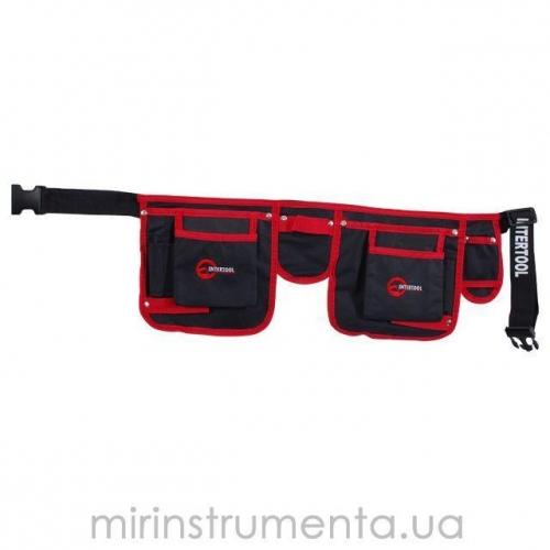Сумка поясная слесарно-строительная INTERTOOL SP-1015