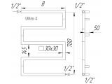 Фото  1 Суперпопулярний дизайн-радіатор полотенцесушитель Ultra 4 / 700х500 з квадратної труби 30х30. Водяний 2396082