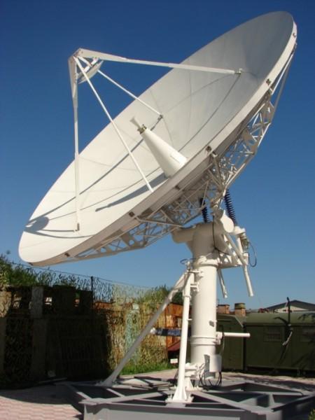 супутникові антени офсетні та Кассегрена з діаметром основного дзеркала до 7,3м під замовлення