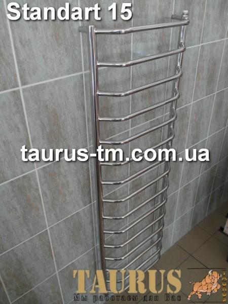 Сушилка для полотенец Standart 15/500 изготовлена из нержавеющей стали. Высота 1550 мм. Установка электротэна.