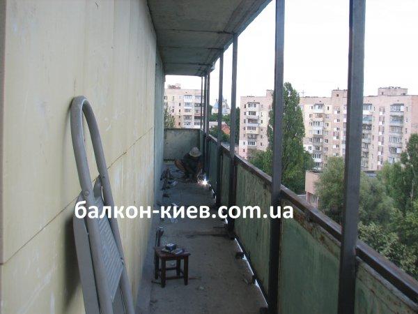 Фото  1 Сварка каркаса балкона под остекление. Киев 1864383