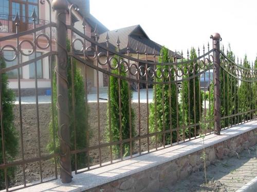 сварные заборы с элементами ковки Киев