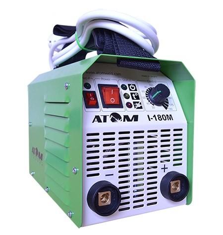 Сварочный инвертор Атом I-180M с кабелем 3 2 и зажимами Abicor Binzel