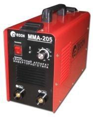 Сварочный инвертор EDON ММА-205 В комплекте идут сварочные кабеля, держатель, клемма массы.