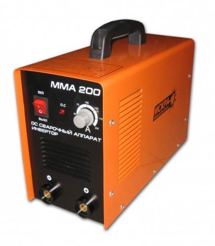 Сварочный инвертор ИСКРА ММА-200 В комплекте идут сварочные кабеля, держатель, клемма массы.