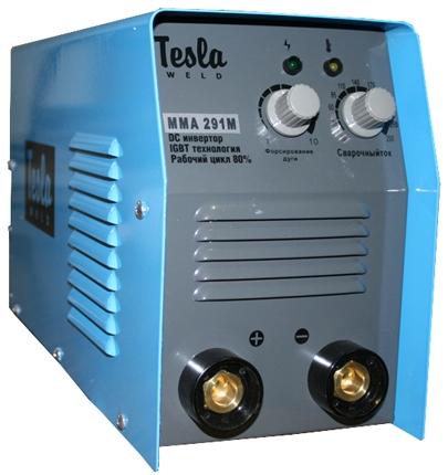 Сварочный инвертор TESLA 291M. Тип: ММА. Питание: 220 /-10%. Сварочный ток: 290А. ПВ: 80%.