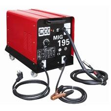Сварочный полуавтомат MIG-195 В комплекте с горелкой и кабелем массы.