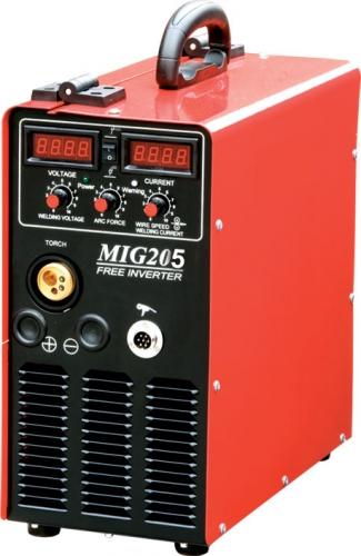 Сварочный полуавтомат MIG-205 В комплекте с горелкой и кабелем массы.