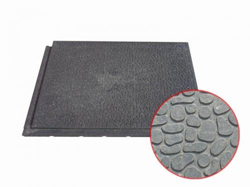 Сверхпрочное напольное покрытие - плита ПВХ с металлической крошкой КОД 107