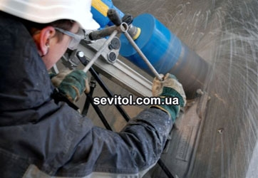 Сверление отверстий диам. от 50 до 400 мм в бетоне