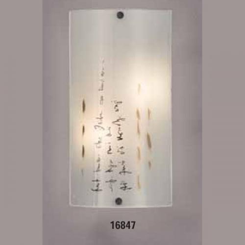 Светильник бра 219430 ELT 1х60W E27 220VОснование металл белый, плафон стекло матовое с рисунком. Размер, мм:320х170
