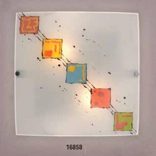 Светильник бра 219510 ELT 2х60W E27 220VОснование металл белый, плафон стекло матовое с рисунком. Размер, мм:330х330
