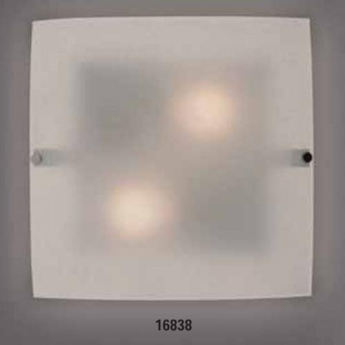 Светильник бра 219540 ELT 2х60W E27 220VОснование металл белый, плафон стекло матовое. Размер, мм:330х330