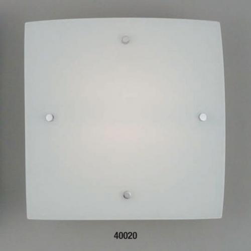 Светильник бра 40020E ELT 2х60W E27 220VОснование металл белый, плафон стекло матовое. Размер, мм:320x320