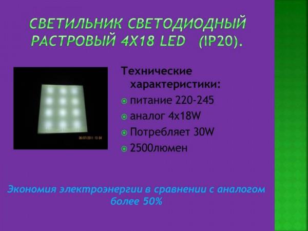 Светильник светодиодный растровый