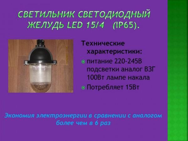Светильник светодиодный Желудь LED