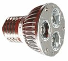 Светодиодная лампа с цоколем Е27 3*1W Яркость ЛМ 210-240, Угол свечения 30, Потребляемая мощность 3Вт, Размер48*64мм